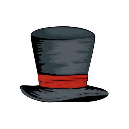 hat top wizard style pop art vector illustration design