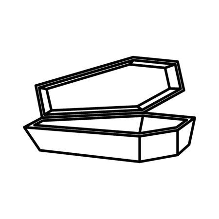 halloween coffin spooky isolated icon vector illustration design Standard-Bild - 132641484