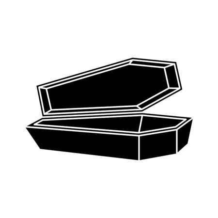 halloween coffin spooky isolated icon vector illustration design