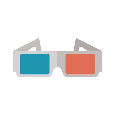 3d glasses design, Cinema movie video film media entertainment show and event theme Vector illustration  イラスト・ベクター素材