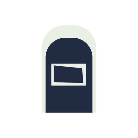 cemetery graveyard rip isolated icon vector illustration design
