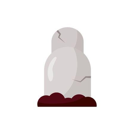 halloween graveyard cemetery isolated icon vector illustration design