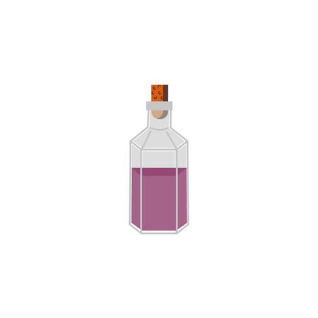 halloween spell bottle isolated icon vector illustration design