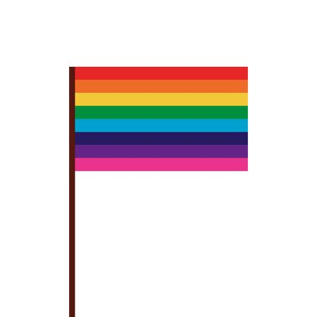 Lgtbiq flag design, Pride equality freedom love and community theme Vector illustration Ilustração