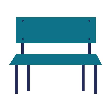 Bench design, Park nature outdoor season spring and summer theme Vector illustration