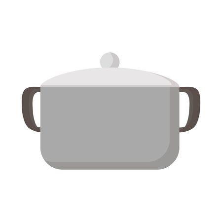 Pot design, Kitchen supply domestic household tool cooking and restaurant theme Vector illustration Ilustração