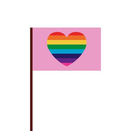 Lgtbiq flag design, Pride equality freedom love and community theme Vector illustration  イラスト・ベクター素材