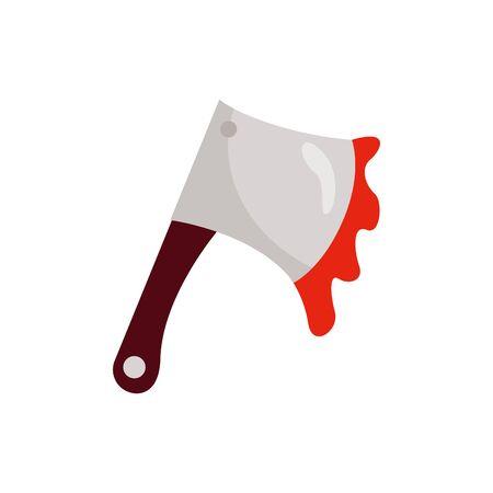 halloween ax with blood isolated icon vector illustration design Vektoros illusztráció