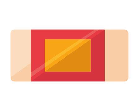 eraser school on white background vector illustration Ilustração