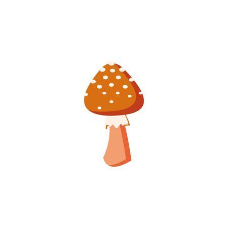autumn fungus seasonal isolated icon vector illustration design