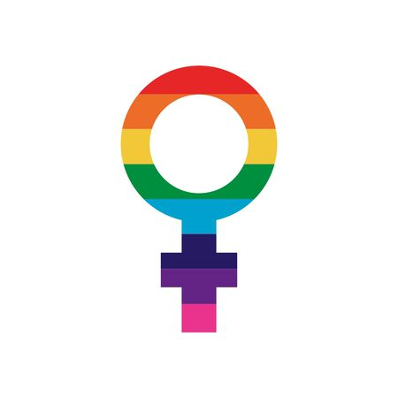 Lgtbiq female icon design, Pride equality freedom love and community theme Vector illustration