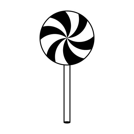 halloween sweet lollipop candies icon vector illustration design