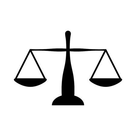 Scale design, Law justice legal judgment judicial authority freedom and crime theme Vector illustration
