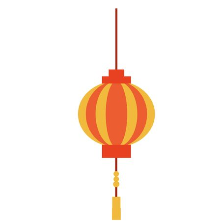 China lantern design, Culture asia traditional art famous oriental and landmark tratheme Vector illustration