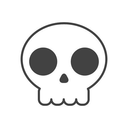skull head halloween isolated icon vector illustration design 版權商用圖片 - 132678724