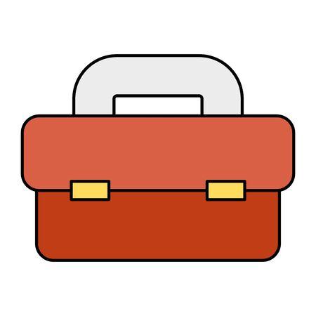 tool box equipment isolated icon vector illustration design