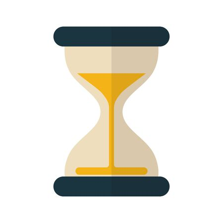 Sand hourglass design, Time clock glass countdown sandglass and watch theme Vector illustration Illustration