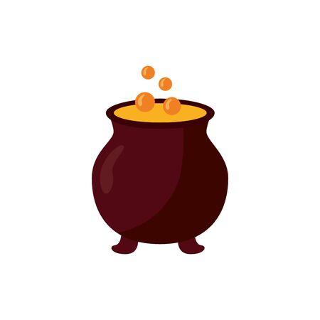 halloween cauldron witch isolated icon vector illustration design Stock Illustratie