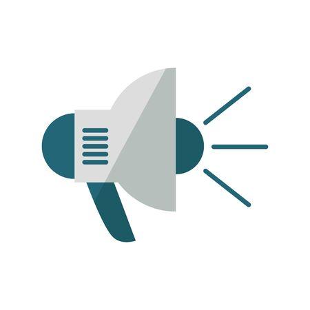 Megaphone design, Amplifer speaker bullhorn announce speech message communication and sound theme Vector illustration