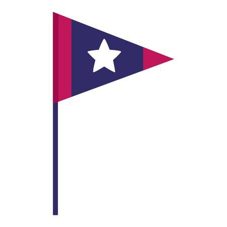 american flag on white background vector illustration 向量圖像