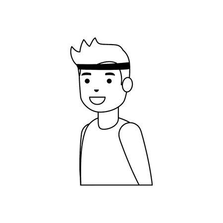 Jungenkarikaturdesign, Lebensstil der kleinen Leute der Kinderkindheit und Personenthema Vektorillustration