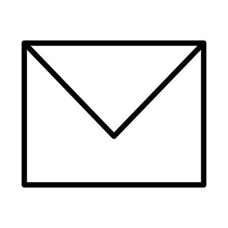 email envelope message on white background vector illustration 일러스트