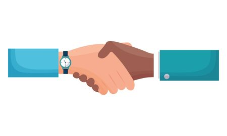 hands business persons done deal vector illustration design Ilustrace