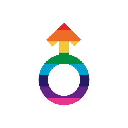 Lgtbiq male icon design, Pride equality freedom love and community theme Vector illustration