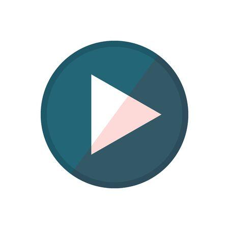 Social media and multimedia button, App communication and digital marketing theme Vector illustration Çizim