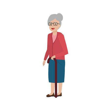 Grandmother cartoon design, Old person grandparents woman avatar senior and adult theme Vector illustration