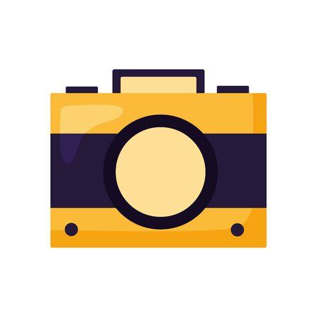 Camera design, Device gadget technology photography equipment digital and photo theme Vector illustration Ilustração