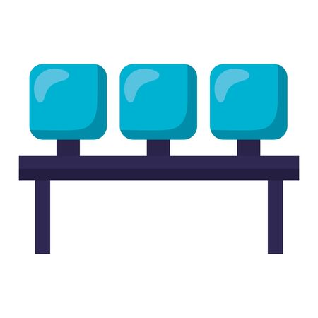Airport seats design, Travel trip vacation journey holiday transport and voyage theme Vector illustration
