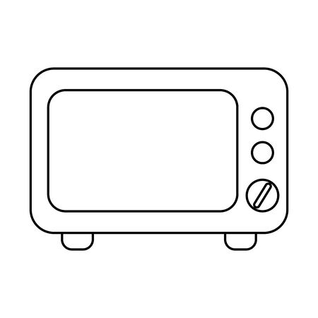 Microwave design, Kitchen supply domestic household tool cooking and restaurant theme Vector illustration