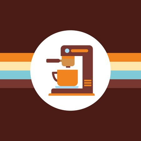 Coffee machine and cup design, Drink breakfast beverage bakery restaurant and shop theme Vector illustration Illustration