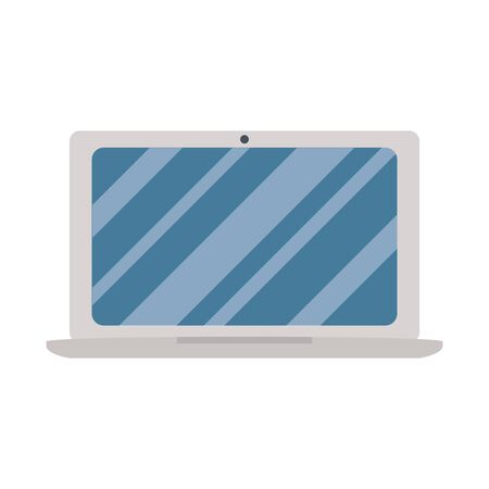 Laptop design, Digital technology communication social media internet web and screen theme Vector illustration Ilustração
