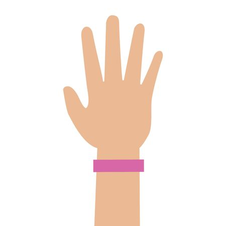 hand showing five fingers international youth day vector illustration