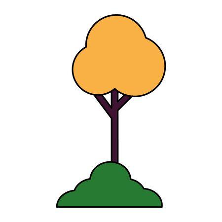 Tree design, Nature plant summer season environment natural and abstract theme Vector illustration