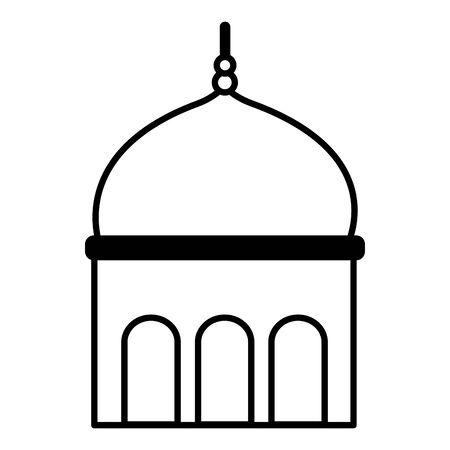 temple dome architecture culture on white background vector illustration Illusztráció