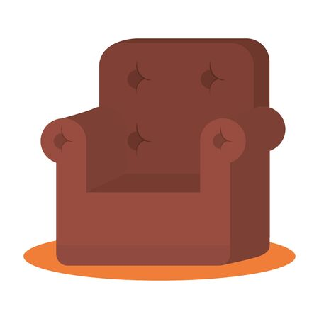 Chair design, seat furniture interior home comfortable style and object theme Vector illustration Foto de archivo - 132667989