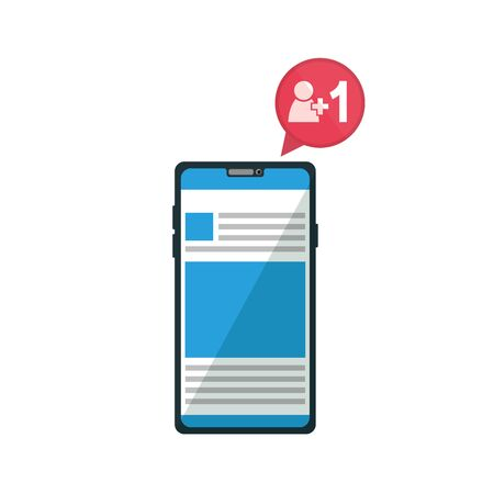 Smartphone design, Digital technology communication social media internet web and screen theme Vector illustration Illustration