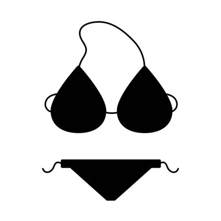 bikini swimwear accessory on white background vector illustration