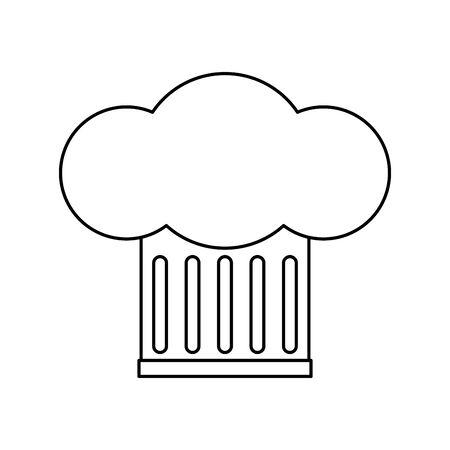 Chefs hat design, Kitchen supply domestic household tool cooking and restaurant theme Vector illustration Ilustração