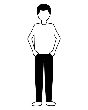 man character on white background vector illustration