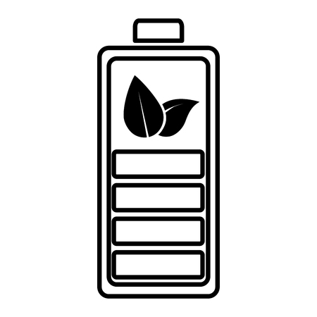 battery charged eco friendly environment vector illustration