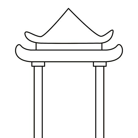 China arch design, Culture asia traditional art famous oriental and landmark tratheme Vector illustration  イラスト・ベクター素材