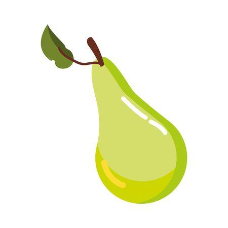 pear autumn fruit seasonal isolated icon vector illustration design Illustration