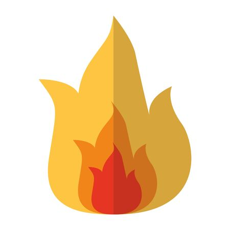 Flame design, Fire bonfire hot burn light flammable heat and campfire theme Vector illustration