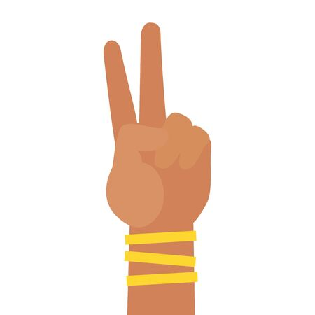 hand peace and love international youth day vector illustration Illustration