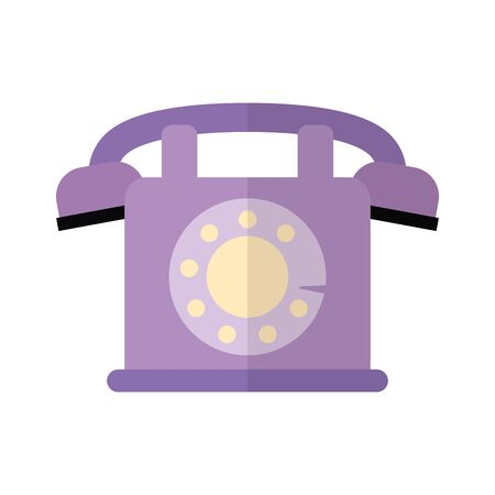 Phone design, Vintage retro call telephone communication contact and technology theme Vector illustration