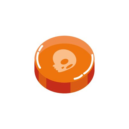 sweet halloween candy isolated icon vector illustration design